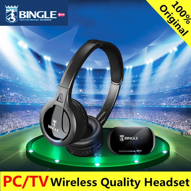 Bingle B616 FM Radio TV Kopfhörer Headset Multifunktions Stereo Wireless mit Mikrofon FM Verhältnis für MP3 PC TV Handys