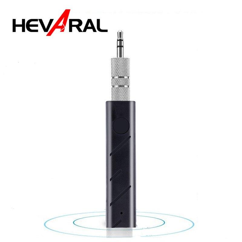 Hevaral-Receptor Bluetooth V4.1 Mini, Adaptador inalámbrico de Audio para coche, con conector de 3,5mm, para auriculares y altavoces