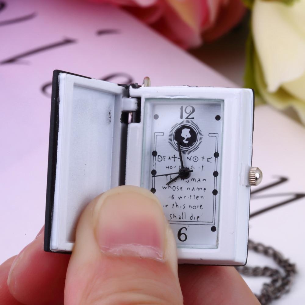1pc worldiwde original do vintage death note livro relógio de bolso de quartzo pingente colar presente popular quente relogio de bolso