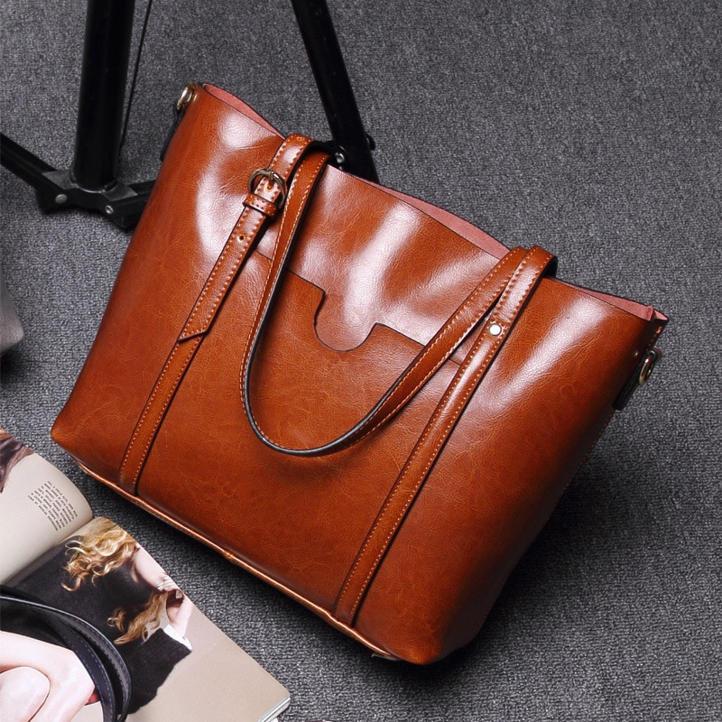 SMILEY SUNSHIINE, bolso de cuero genuino para mujer, bolso grande, moda, bolso de mano con asa superior, bolso de mano grande para mujer, bolso de hombro de lujo
