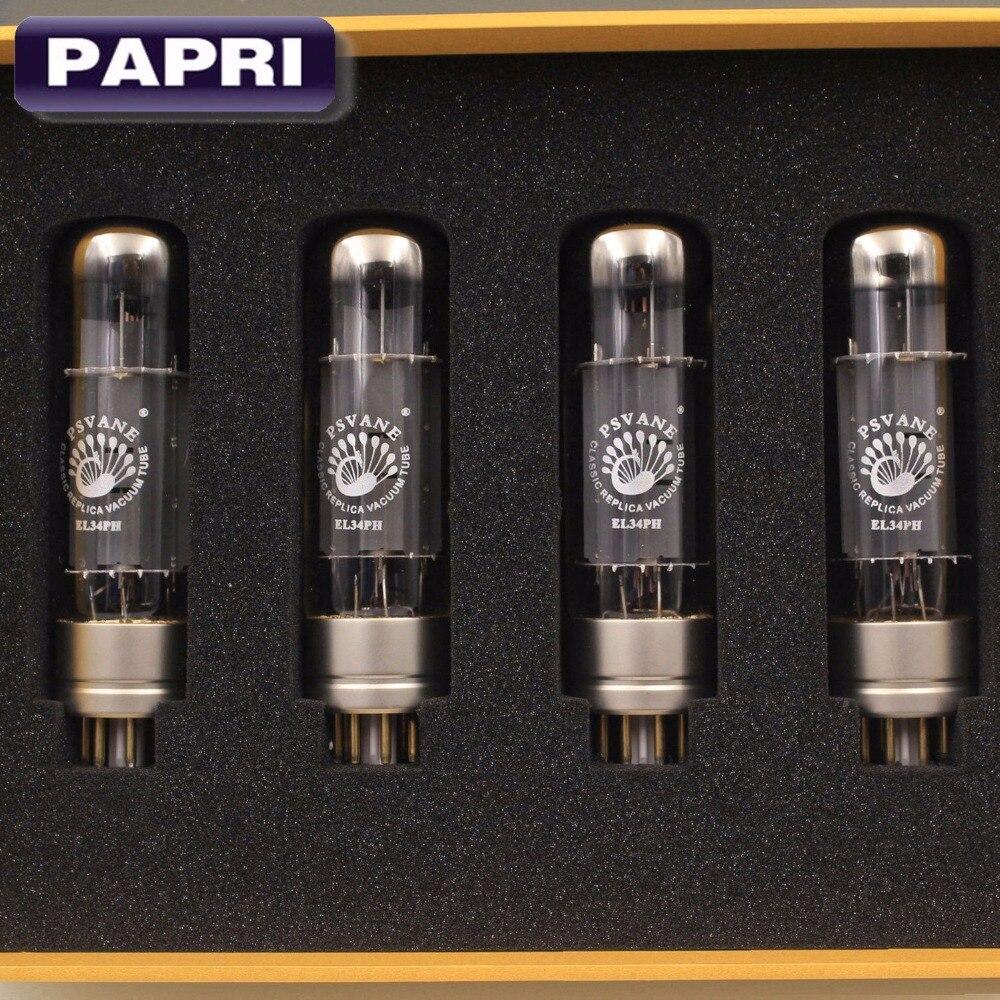 Repuesto de tubo de vacío PAPRI PSVANE EL34PH amplificador válvula tubo preamplificador EL34 tesoro tubo, par coincidente 4 Uds