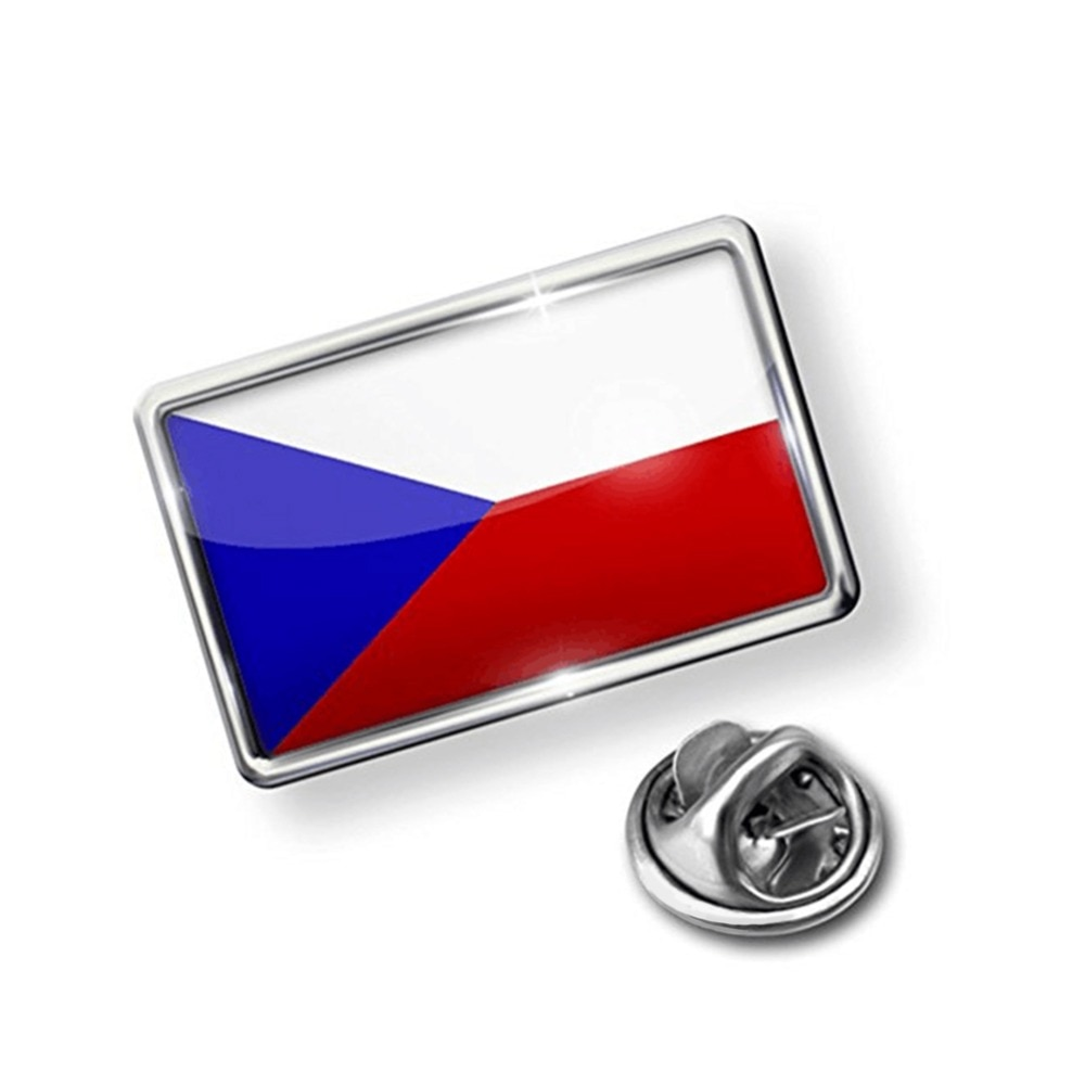 Заколка с флагом Чехии