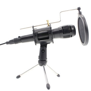 Professional  Wired Dynamic Vocal Microphone microfono with Adjustable Tripod Microphone Stand Holder  For Karaoke