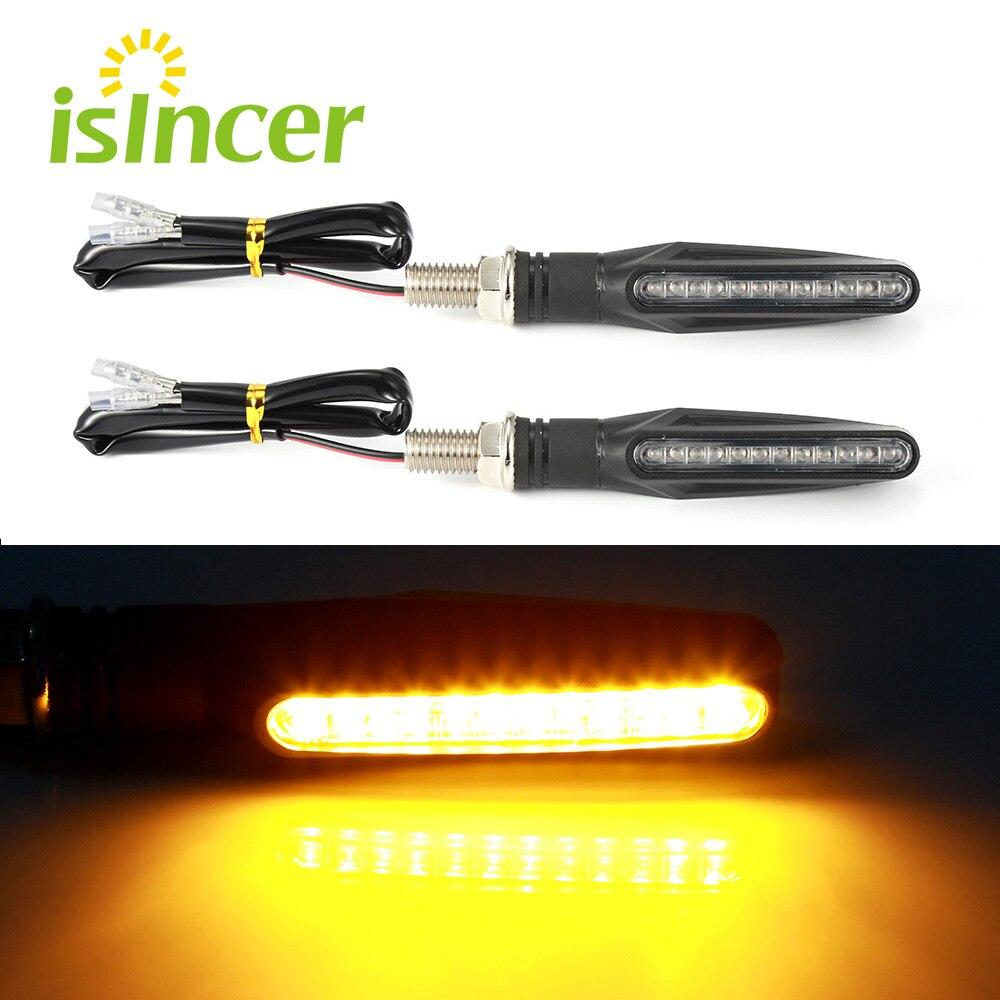 2 unidades de luz de señal de giro para motocicleta Flexible 12 indicadores LED de señales de giro Universal intermitentes para Honda GROM MSX125