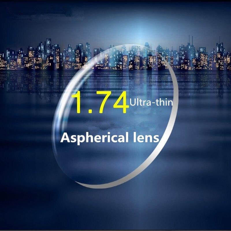 1.74 مؤشر عالية الوضوح النظارات الطبية Aspherical العدسات الراتنج قصر النظر رقيقة جدا 2 قطعة لزوج