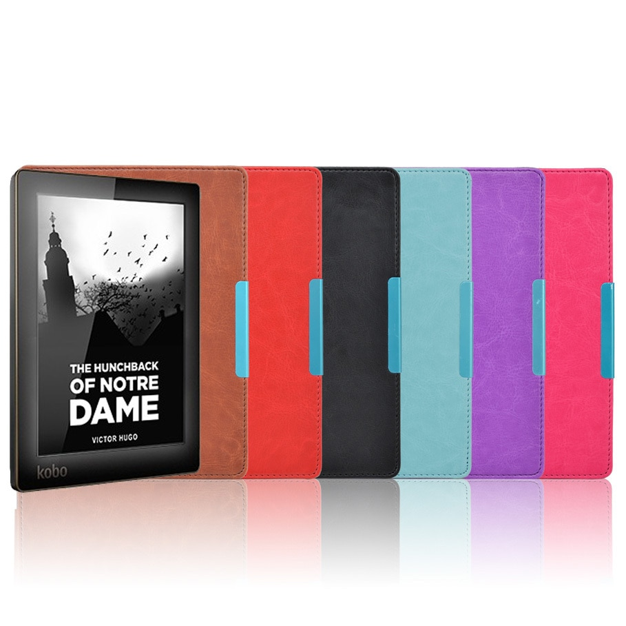 PU Leather Case For Kobo Aura N514 Cover 6 inch Magnetic Flip Protective Cover Ebook Reader Case