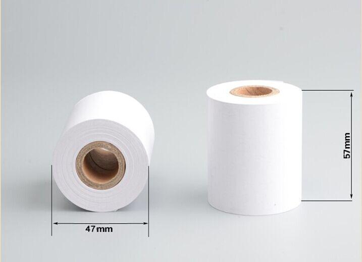 2016 Nuevo 1 rollo 57*50 Papel térmico para caja registradora papel de impresión a supermercado pos 58mm/máquinas térmicas para billetes pequeños