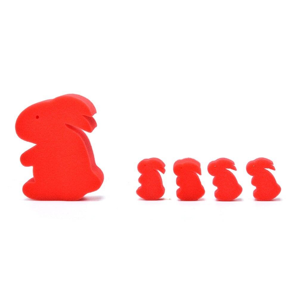 5 Pçs/set Engraçado Coelho Esponja Mágica Truques de Mágica magia Prop Acessórios de Palco Close-Up Magic Adereços Magia Brinquedos Para Crianças Da Educação