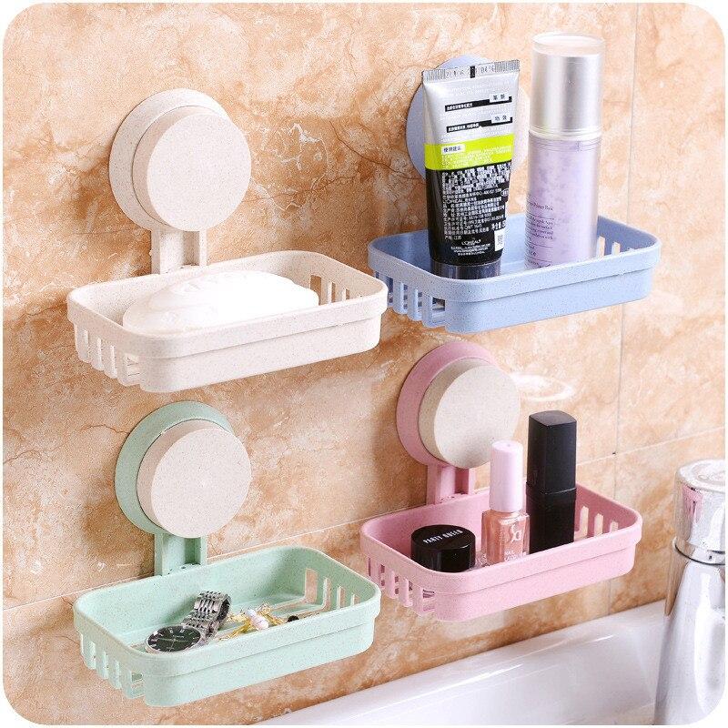 Cuarto de baño tonto caja de jabón de baño jabón plato pared drenaje jabón estantes de almacenamiento accesorios de baño del producto