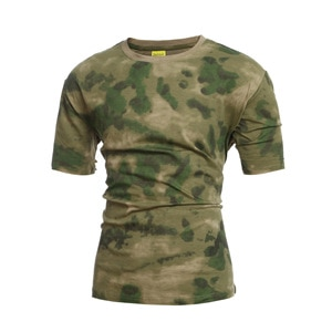 Mens Compress T-shirt Tactical Unloading Special Forces Spetsnaz Camouflage Tee Shirts Army Combat Short Sleeved Quick Drying