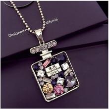 Женское ожерелье с кулоном в виде бутылки с водой GHRQX, оптовая продажа
