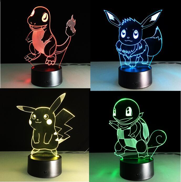 Игры Pokemon Go Touch Night Light Colorful Charmander, экшн-фигурки Pikachu, игрушки, игрушки для детей, подарки