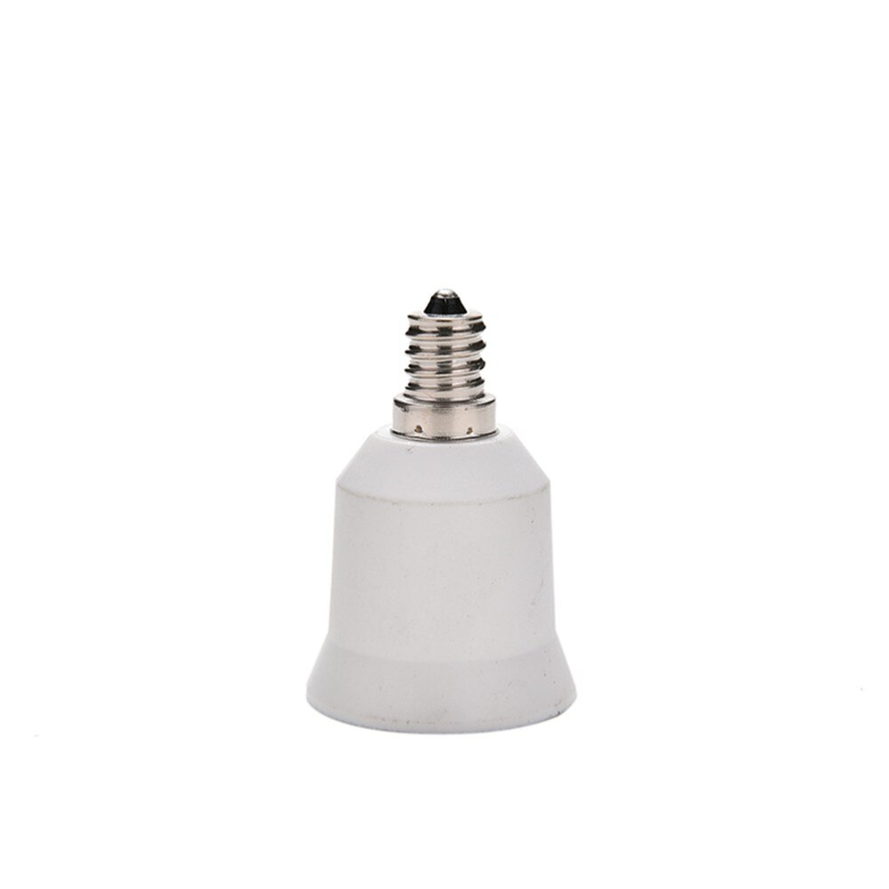 White E12 To E26/E27 Lampholder Bulbs Converter Candelabra Light Base Socket