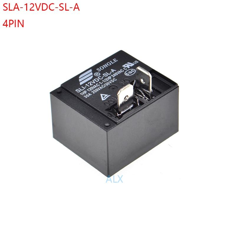 2 uds relé de potencia SLI-12VDC-SL-A 30A 4pin T93 SLI 12V DC12V SLI-12VDC realys