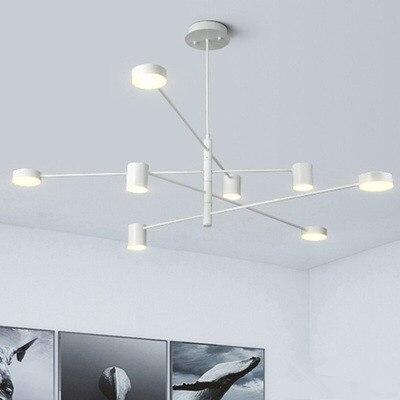مصباح سقف LED بتصميم إسكندنافي حديث ، إضاءة داخلية ، إضاءة سقف زخرفية ، مثالي لغرفة المعيشة أو غرفة النوم أو المطعم.