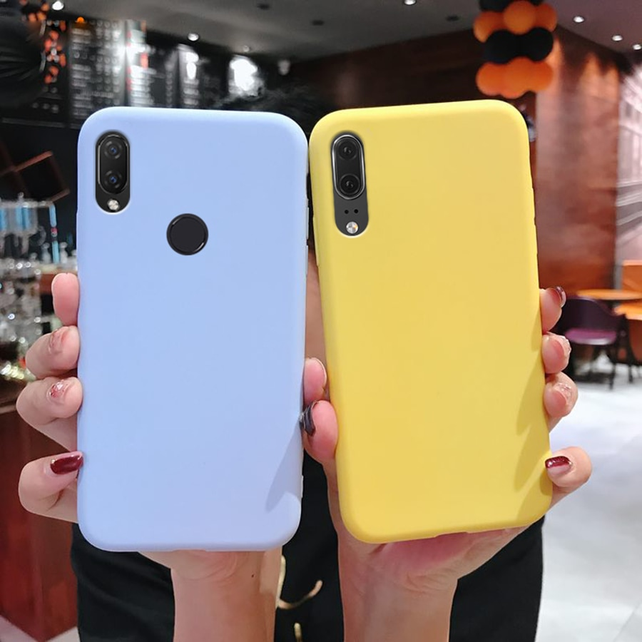 Caso Huawei P30 Pro Casos Matte TPU Huawei Companheiro 20 Pro lite Tampa Do Telefone Honra 8X10 8S 10i 20 Nova 5i 4 4i 3 2i Doces Bonito
