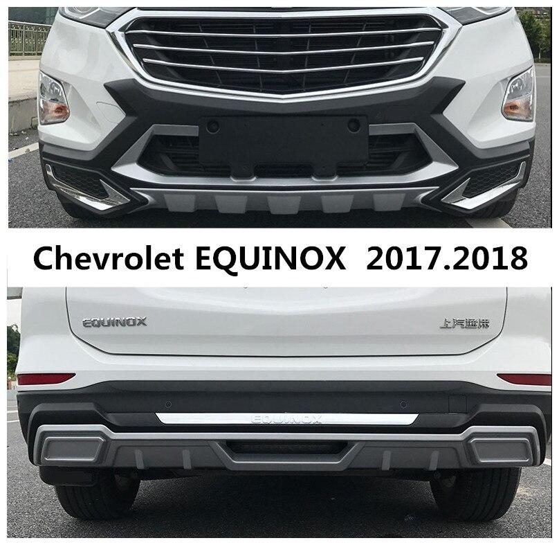 Para Chevrolet EQUINOX 2017,2018 Protector de parachoques placa antiimpacto de alta calidad nuevo ABS frontal + trasero de coche accesorios