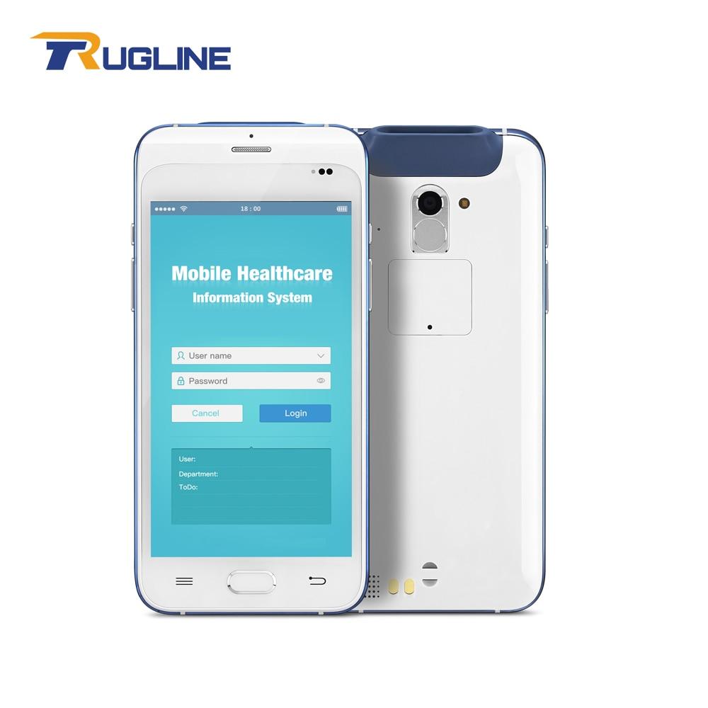 Nouveauté Android 6.0 logistique Mobile ordinateur de santé PDA avec lecteur dempreintes digitales lecteur de codes à barres et lecteur NFC