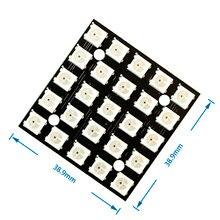 WS2812 светодиодный 5050 RGB 5x5 5*5 25 светодиодный Матрица для Arduino