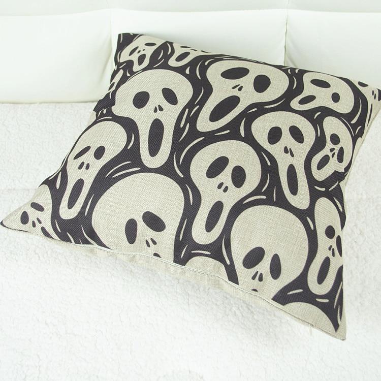 45 * 45cm  by Halloween skull pillow wholesale manufacturers / no Pillow core nap sofa pillow can be mixed batch coreless