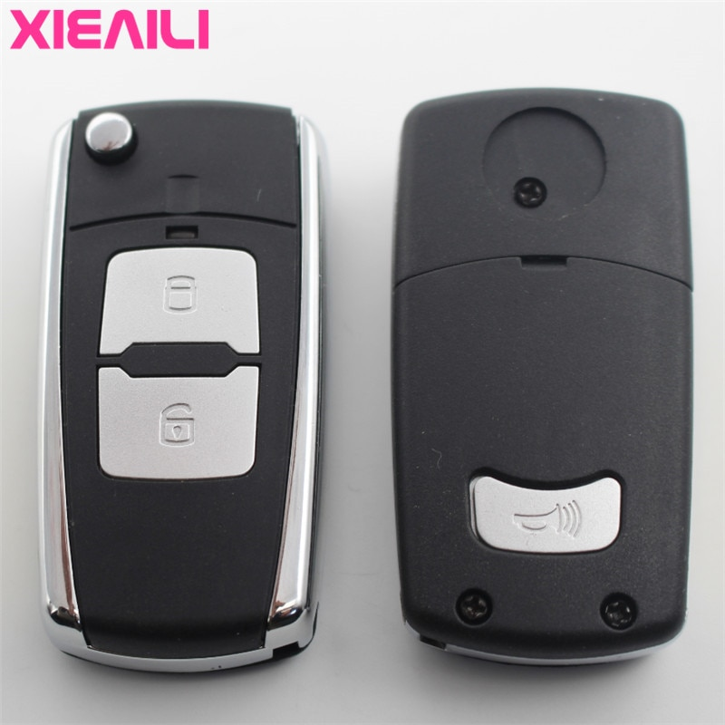 XIEAILI OEM 3 botones modificado Flip plegable llave remota carcasa para Hyundai Tucson para Kia Soul Key Fob caso S164