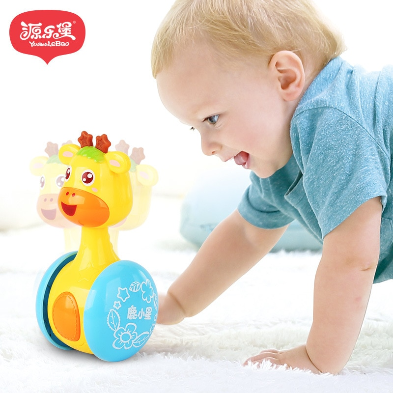 Original-yuanlebao Baby Rattles Tumbler Doll Roly-poly Learning Education for Baby Gifts Bell Toys Baby Bell Baby Toys