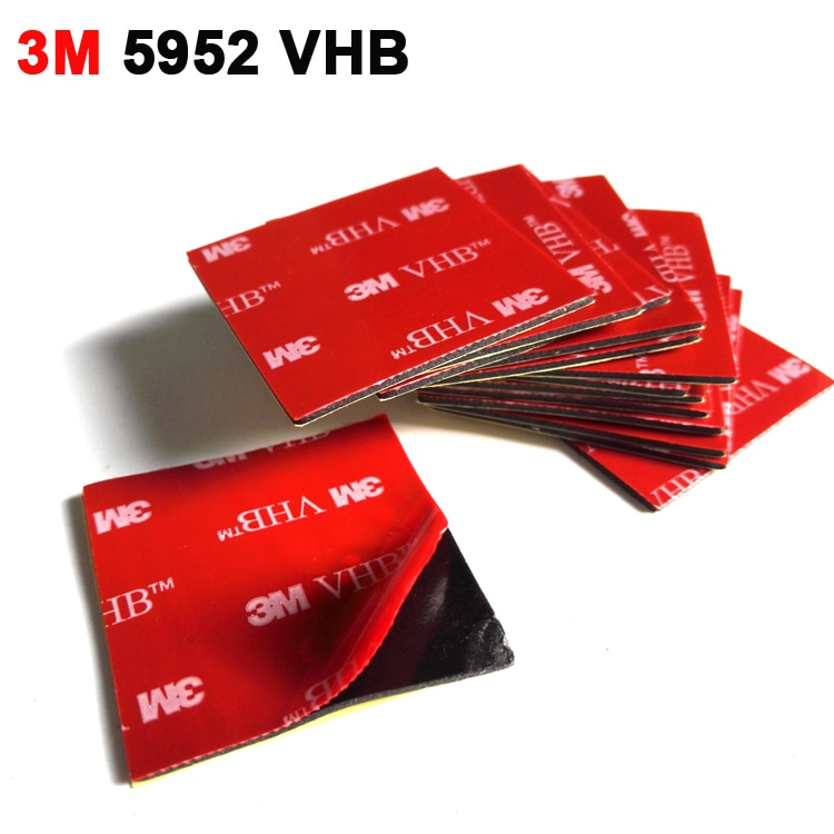 5 uds 4cm x 4cm 3M VHB 5952 cinta adhesiva de espuma acrílica de doble cara resistente buena para videocámara DVR para coche soporte 40x40mm