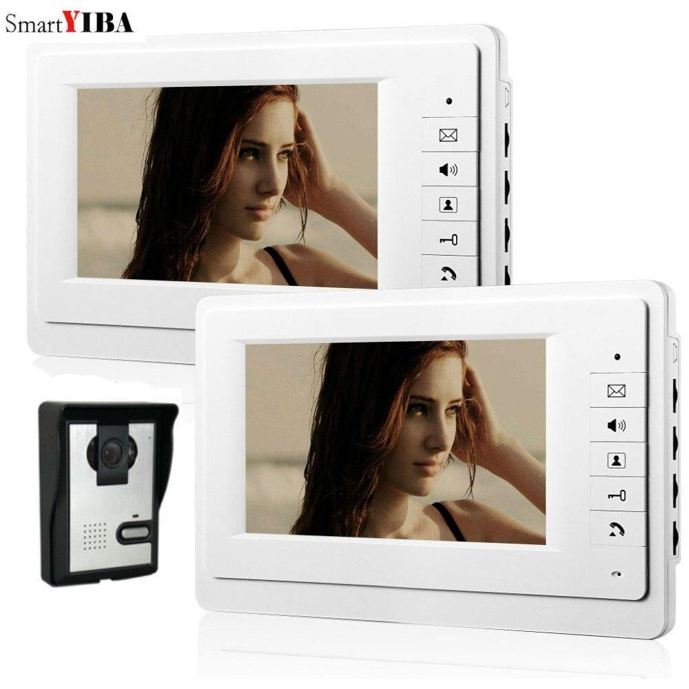 SmartYIBA-شاشة باب فيديو مقاس 7 بوصات ، نظام اتصال داخلي بالفيديو ، جرس باب منزلي ، طقم هاتف داخلي سلكي