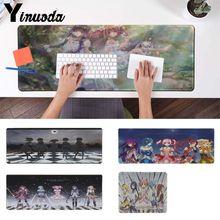 Yinuoda divertida Puella Magi Madoka mágica ratón de goma de anime alfombrilla ratón de escritorio Durable alfombrilla ratón para PC ordenador portátil para jugador