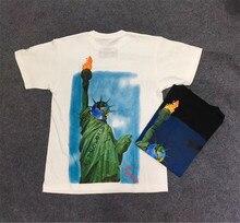 Travis Scott Té Astroworld T-shirt Wen 11 Haute Qualité t-shirts Statue de La Liberté Top T-shirts Travis Scott T-shirt
