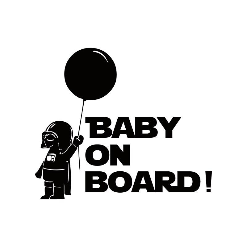 Autocollants et autocollants réfléchissants de voiture   Décoration de voiture Star Wars Baby à bord pour chevrolet cruze ford focus vw hyundai honda kia