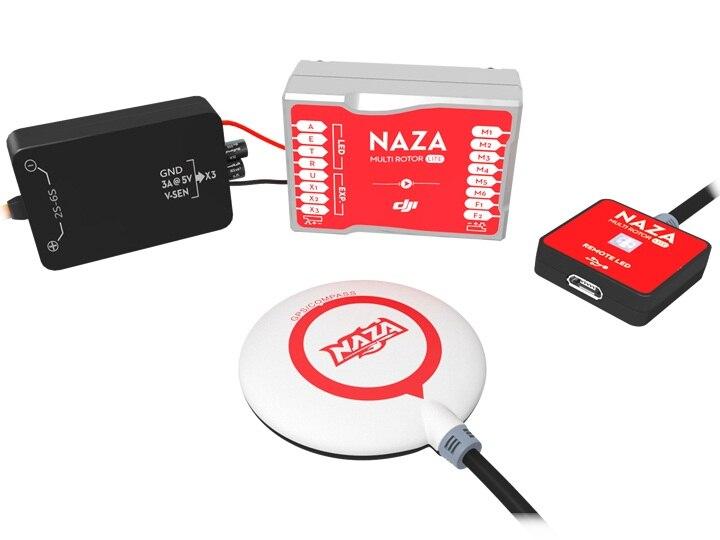 DJI Naza-M Lite sistema de Control de vuelo Multirotor con GPS Compass BEC módulo LED todo en uno diseño Naza M Multirotor todo en uno