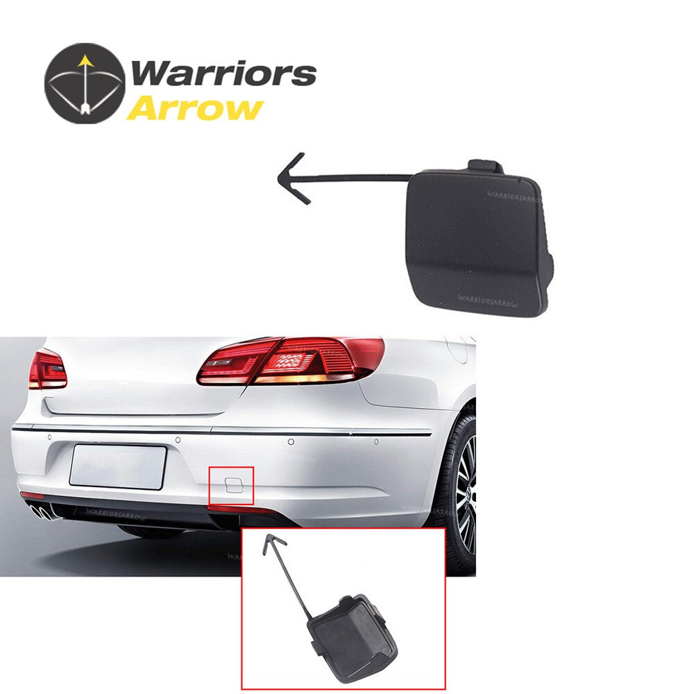 3C8807441 para VW Passat CC 2009 2010 2011 2012 remolque ojo gancho cubierta Primed parachoques trasero Color al azar