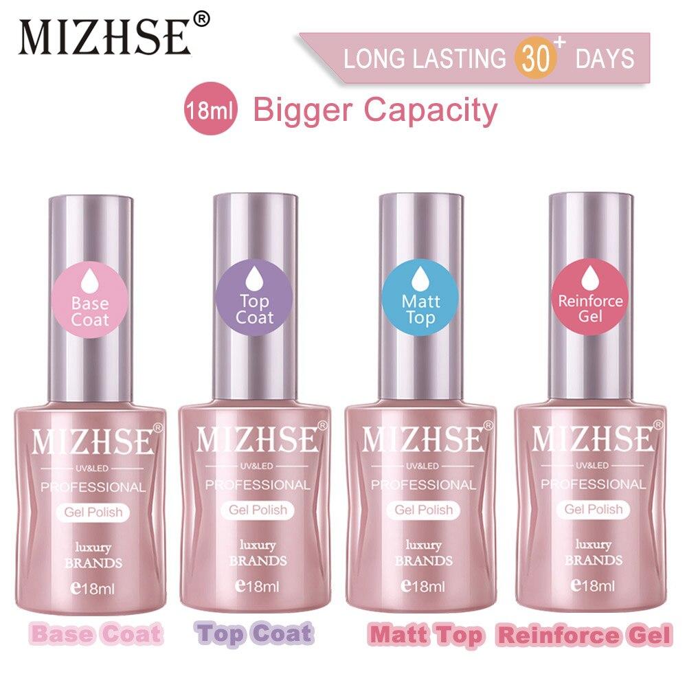 MIZHSE-Gel UV multiusos para manicura, Esmaltes Permanentes mate, capa superior para Base...