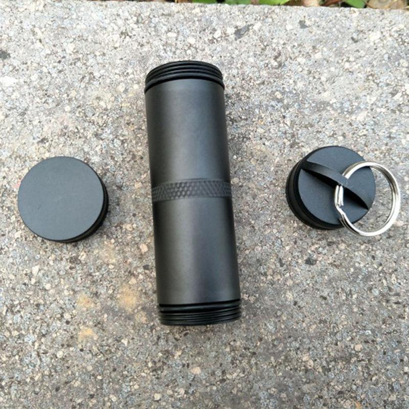 Уличный контейнер для таблеток, герметичное уплотнение, контейнер для бушкрафта, водонепроницаемый, для путешествий, аварийное снаряжение, коробка для таблеток, инструмент для хранения