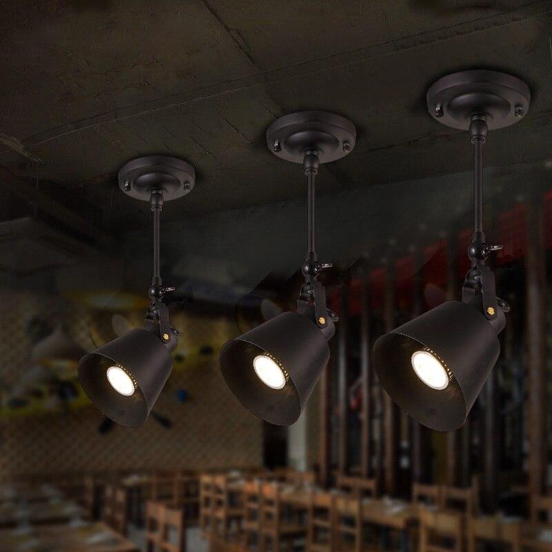 luminaria de teto estilo loft lampada criativa de 1 2 3 4 pontas com iluminacao