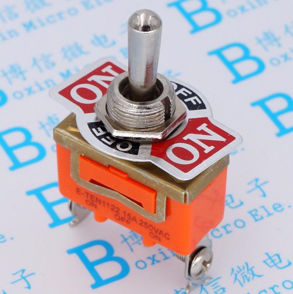 2 PCS YT2120 E-TEN1122 15A 250VAC 3PIN ON-OFF-ON Toggle switch Rocker switch micro interruptor Do interruptor de alimentação Frete Grátis