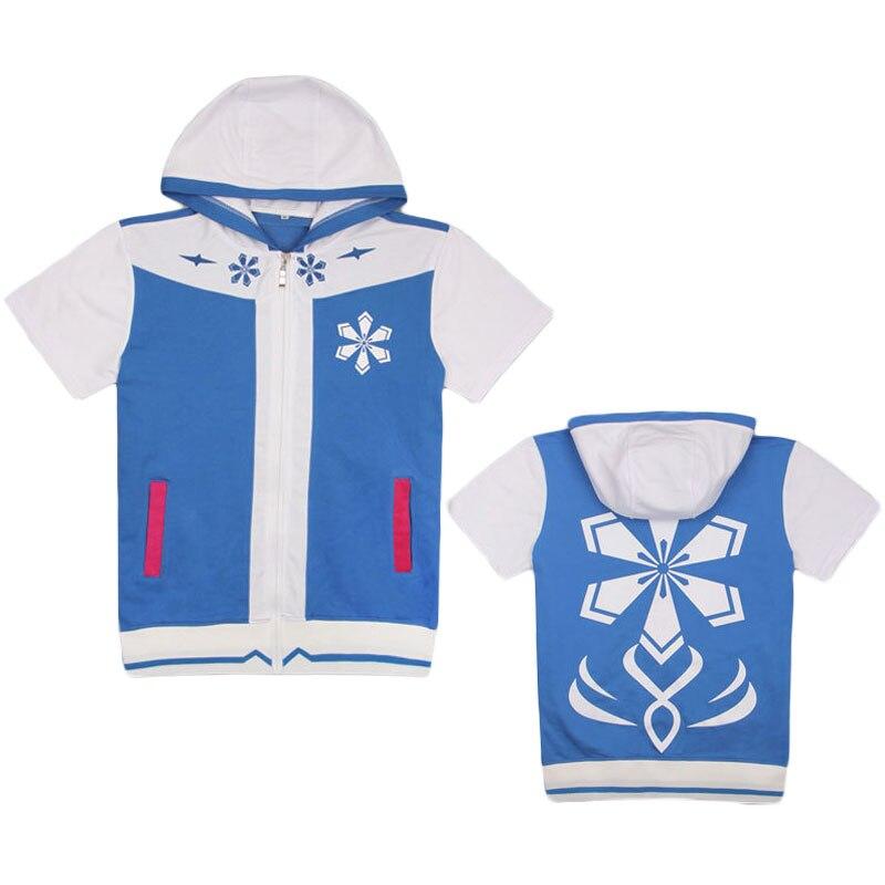 Sudaderas con capucha Hatsune Miku con diseño de nieve para mujer, Sudadera con capucha, chaqueta de manga corta, Jersey con cremallera, con bolsillo Sudadera con capucha, Tops ajustados, abrigo Cosplay