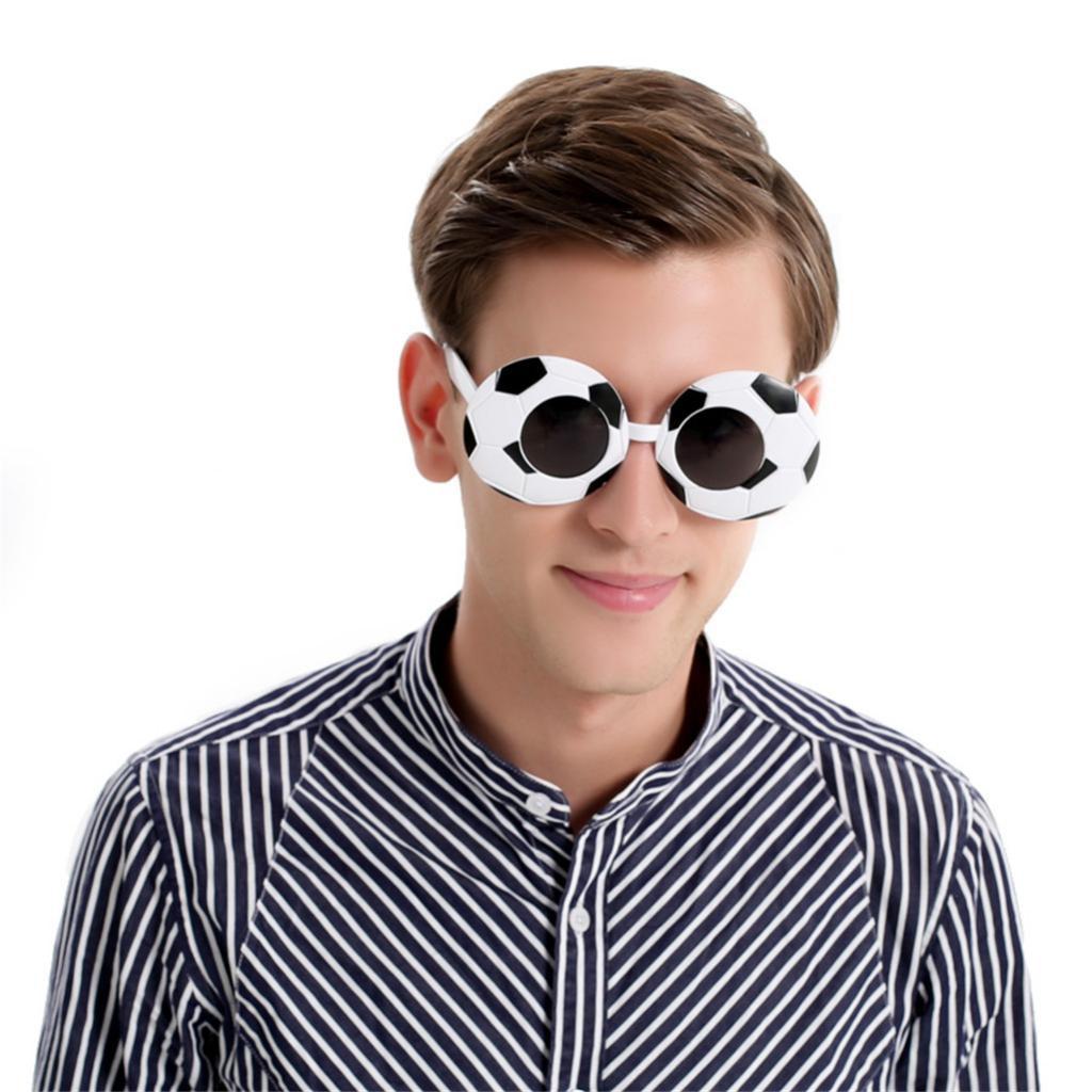Novedad negro blanco disfraz de fútbol americano ojo gafas Unisex ventilador de fútbol especificaciones gafas de sol Cosplay partido Photobooth gafas