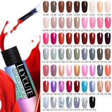 LILYCUTE 5ml Nail Gel Polish Semi Permanent Red Series Gel Led UV Long Lasting Soak Off Nail Art Gel Varnish With Base Top Coat
