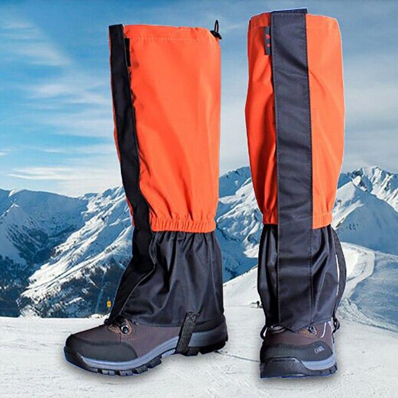 Mallas de ciclismo impermeables y a prueba de viento Unisex, cubierta para botas de Camping, senderismo, esquí, polaina, cubierta para pierna, nieve, caza, escalada, polainas para zapatos