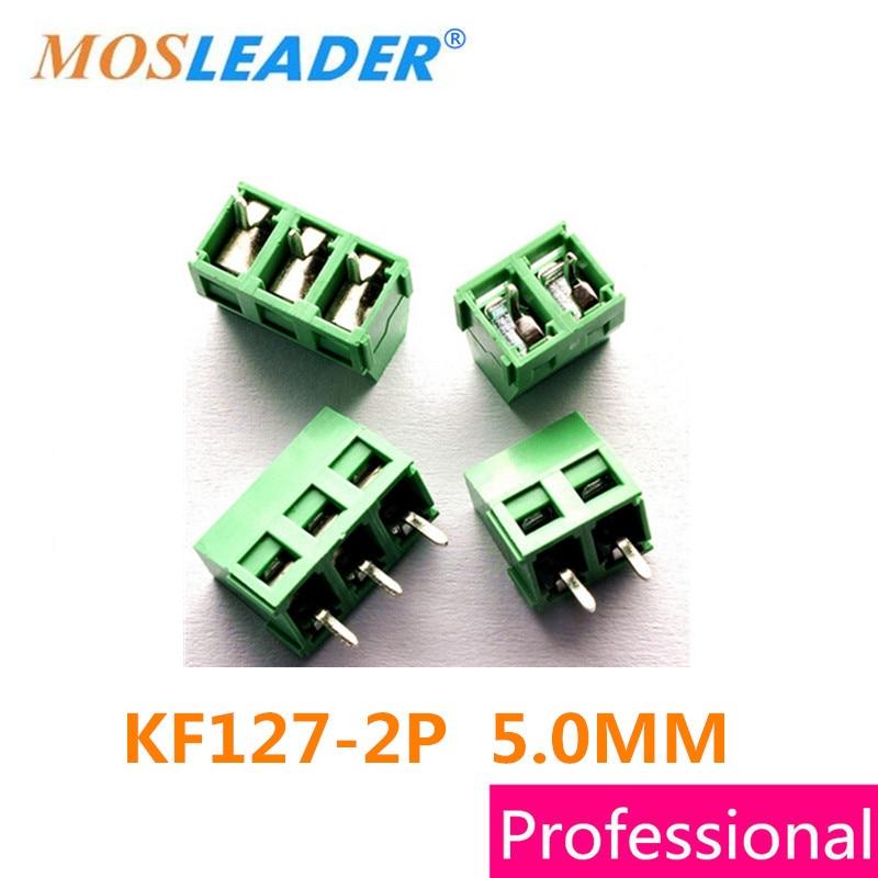Mosleader Terminals KF127-2P 1000PCS Iron KF127-5.0-2P 300V 10A Screw 3Pin 5.0 Straight Pin PCB Screw Terminal Block Connector
