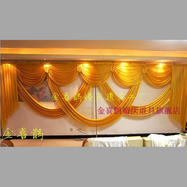 elegant 6 meter long wedding swags for wedding backdrop drapery stage curtain event party decoration