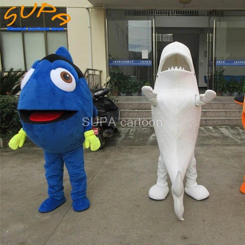 Costume moda material eva unisex peixe e tubarão traje da mascote para sob o mar festa temática