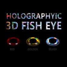 Wifreo 300 Uds 3D ojo de pez atado de moscas serpentina cebo ojo de pez señuelo con ojos insecto cebo suave ojo