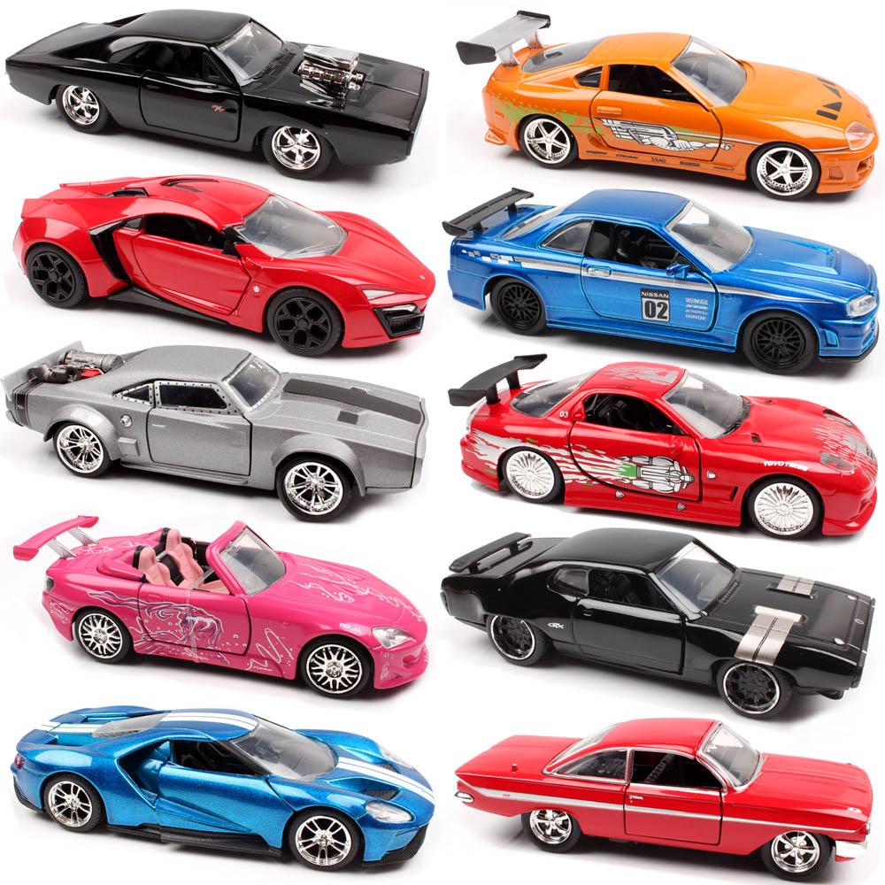Jada 1:32 Быстрая зарядка для Ford DODGE Chevy Nissan GTR Honda Lykan toyota supra race литая и автомобильная модель, автомобильные весы, игрушка для детей