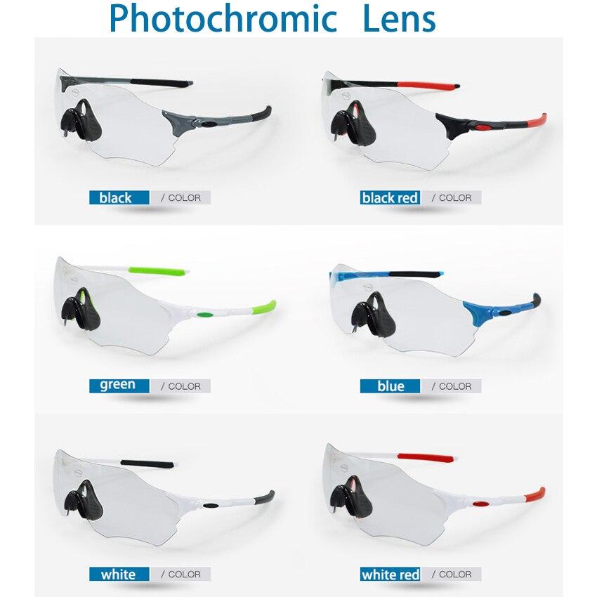 Photochromic Cycling Glasses TR-90 Men Women Sports MTB Bike Bicycle Sunglasses Cycling Eyewear