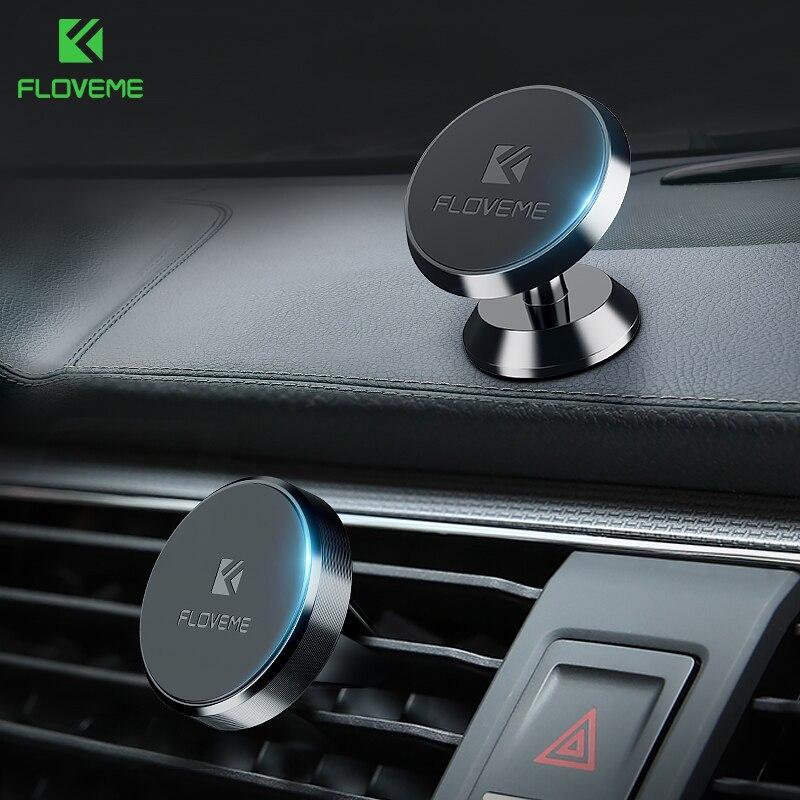 Novedoso pack de soporte magnético de teléfono de coche para iPhone XS MAX Xiaomi montaje magnético soporte para coche para teléfono en el coche 2 Estilo soportes para teléfono móvil