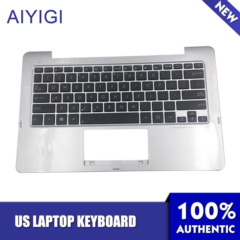 AIYIGI nuevo teclado de EE. UU. para Asus TX201 TX201LA palmrester 90NB03I1-R31US0 accesorios para portátiles con diseño de EE. UU.