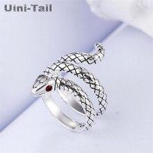 Uini-cola caliente nueva plata de ley 925 dinámico retro serpiente anillo Linda anillo de moda de joyería de calidad hombres y mujeres GN965